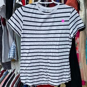 Cotton on white and black stripped shirt